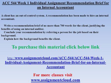 acc 544 week 1