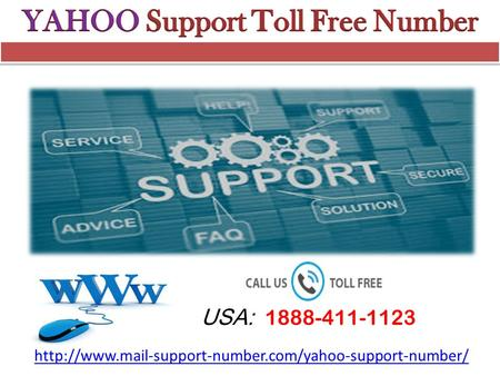 Yahoo Support toll free number 1888-411-1123 USA/CA