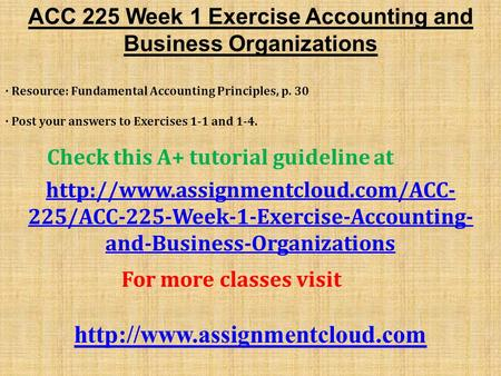 principles of accounts exercise