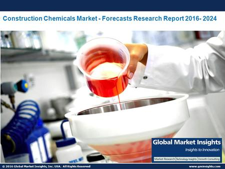 © 2016 Global Market Insights, Inc. USA. All Rights Reserved  Construction Chemicals Market - Forecasts Research Report