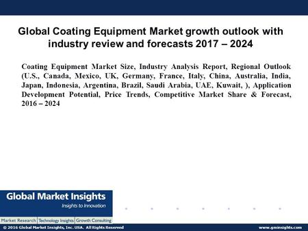 © 2016 Global Market Insights, Inc. USA. All Rights Reserved  Global Coating Equipment Market growth outlook with industry review and.