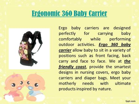 360 Ergo Baby Carrier