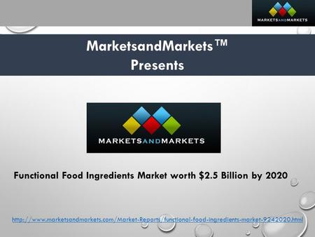 Global Functional Food Market Worth