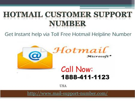 Contact Hotmail Customer Support Number 1888-411-1123 USA