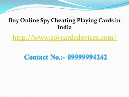 Buy Online Spy Cheating Playing Cards in India