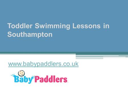 Toddler Swimming Lessons in Southampton