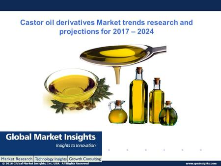 © 2016 Global Market Insights, Inc. USA. All Rights Reserved  Castor oil derivatives Market trends research and projections for 2017.
