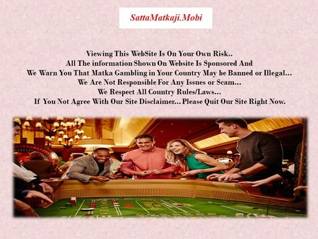 The Biggest Online Gambling Site is SattaMatkaji