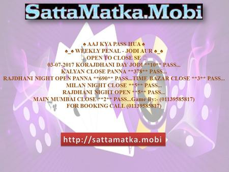 The Satta Matka Game is The Popular Betting Game