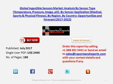 Global Ingestible Sensors Market: Analysis By Sensor Type (Temperature, Pressure, Image, pH), By Sensor Application (Medical, Sports & Physical Fitness),