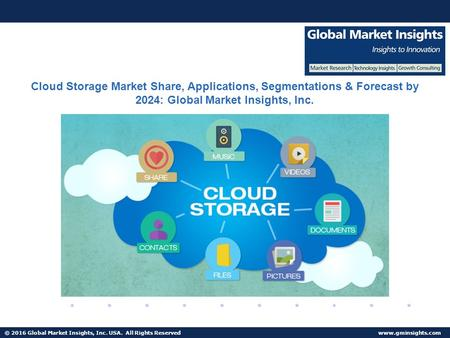 © 2016 Global Market Insights, Inc. USA. All Rights Reserved  Fuel Cell Market size worth $25.5bn by 2024 Cloud Storage Market Share,