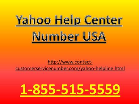 Yahoo Help Center Number 1-855-515-5559 USA
