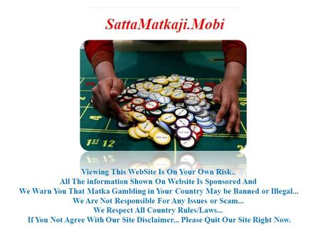 World's Best Satta Matka Guessing Site