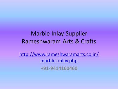 Marble Inlay Supplier Rameshwaram Arts & Crafts  marble_inlay.php