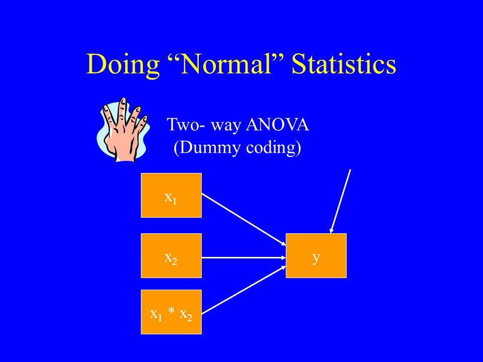 Doing Normal Statistics x y Regression x x