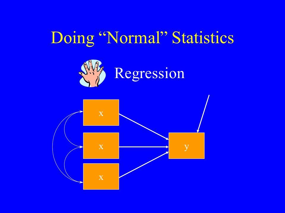 Doing Normal Statistics MANOVA x1x1 x2x2 y1y1 y2y2 y3y3