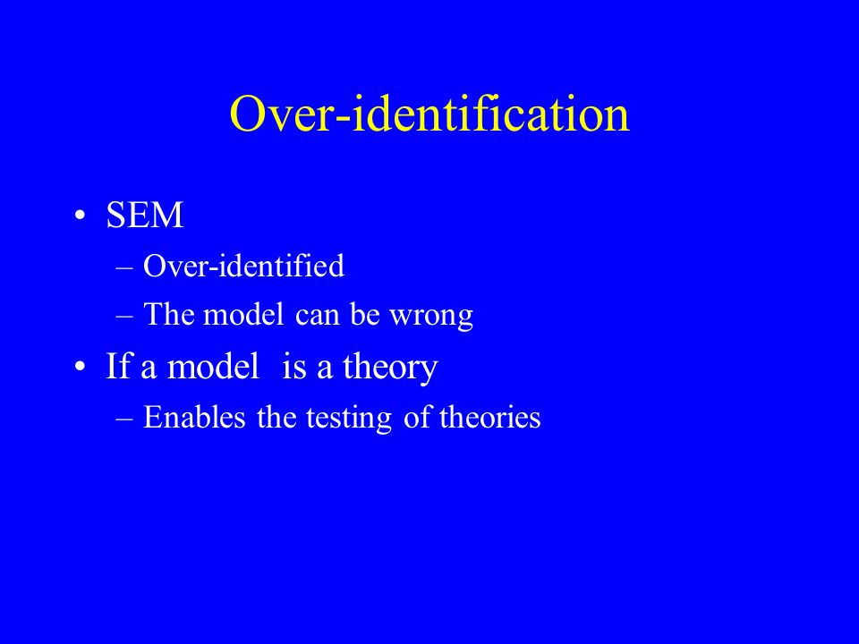 Parameter Identification x - 2 = y x + 2 = y Should be identified according to our previous rules –its not though There is model identification –there is not parameter identification
