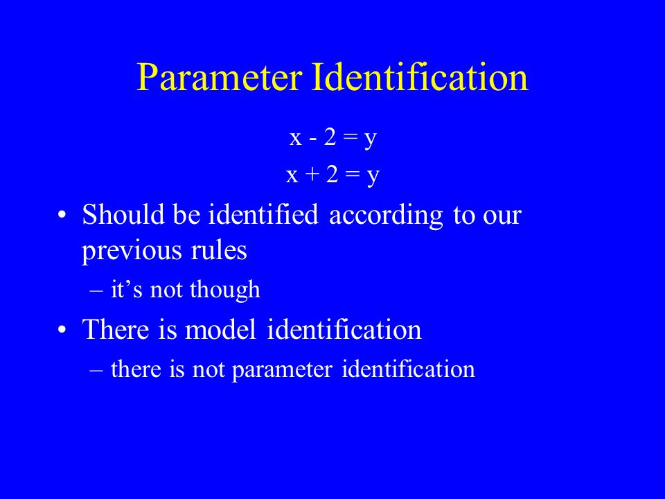 Sampling Variation and 2 Equations and numbers –Easy to determine if its correct Sample data may vary from the model –Even if the model is correct in the population Use the 2 test to measure difference between the data and the model –Some difference is OK –Too much difference is not OK