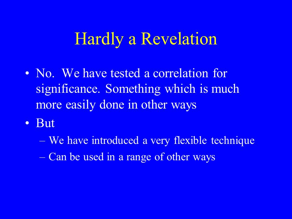 Testing Other Than Zero Estimated parameters usually tested against zero –Reasonable.