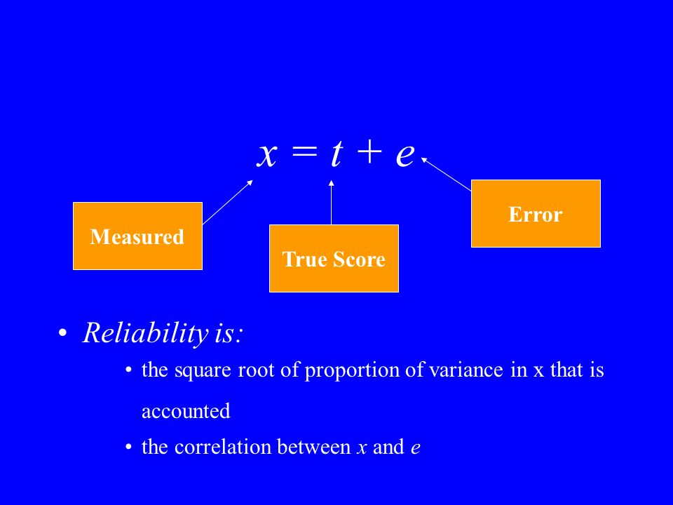 Identification and Latent Variables 1 measured variable –not (even close to) identified 4 measured variables –6 known, 4 estimated model is identified