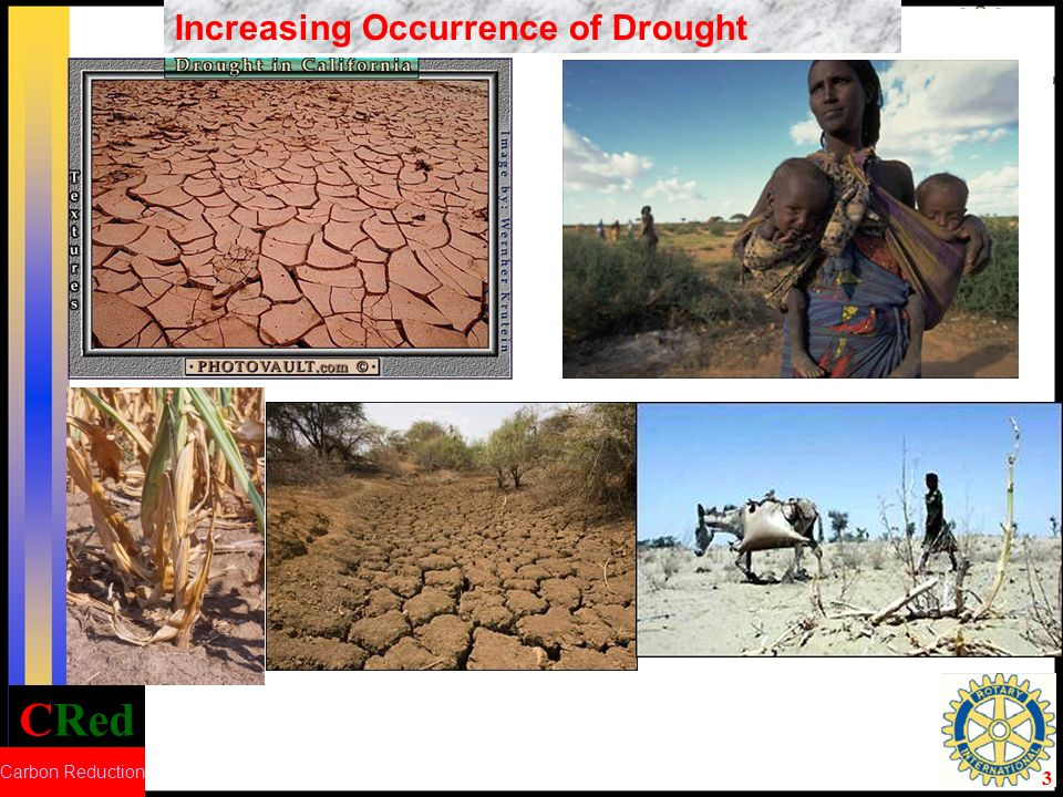 CRed Carbon Reduction 4 Increasing Occurrence of DroughtIncreasing Occurrence of Flood