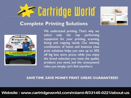 We understand printing. That's why we select only the top performing equipment for your printing, scanning, faxing and copying needs. Our winning combination.