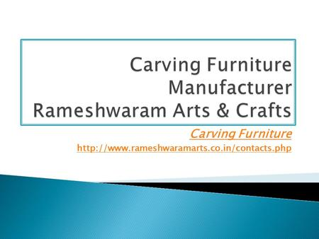 Carving Furniture