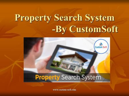 Property Search System -By CustomSoft.
