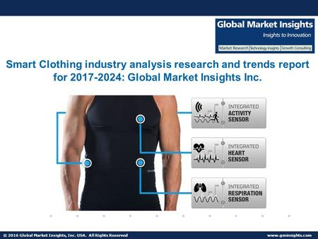 © 2016 Global Market Insights, Inc. USA. All Rights Reserved  Smart Clothing industry analysis research and trends report for :