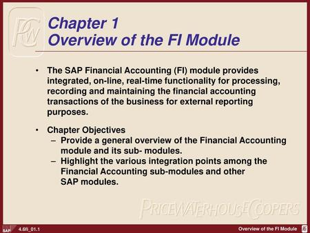Chapter 1 Overview of the FI Module