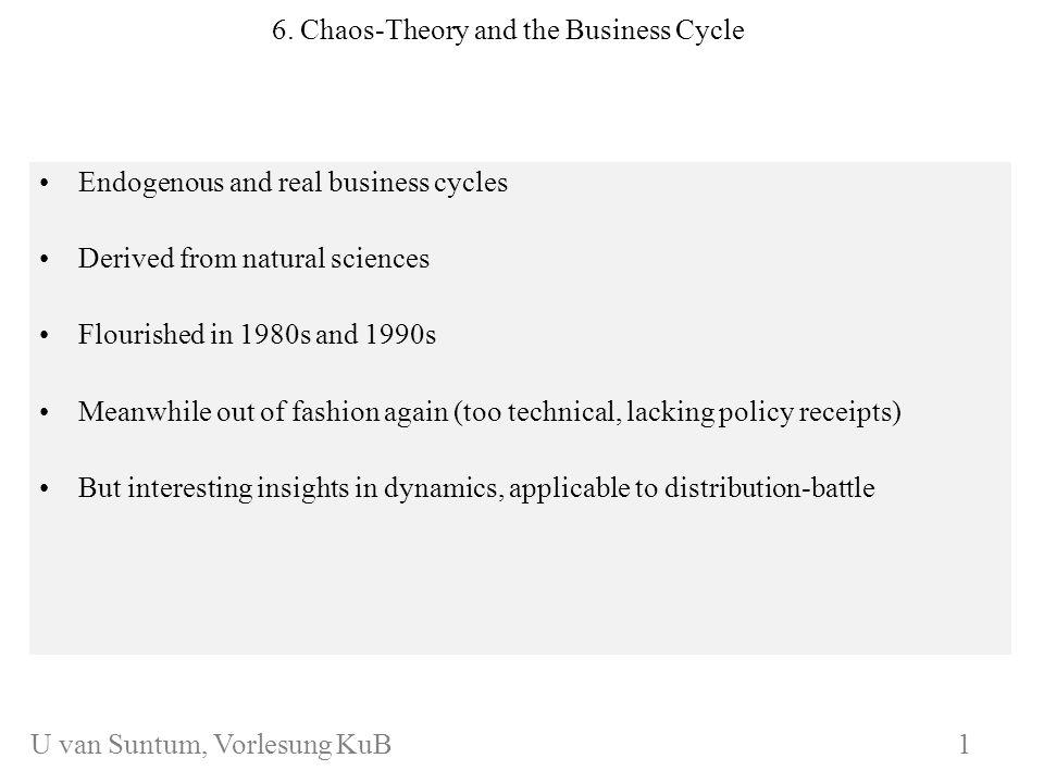 WS 2006/07 KuB 7 Chaos-theory: An example*) *) cf.