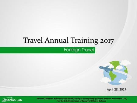 Travel Annual Training 2017