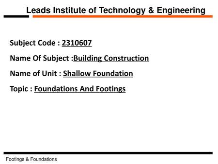 Leads Institute of Technology & Engineering