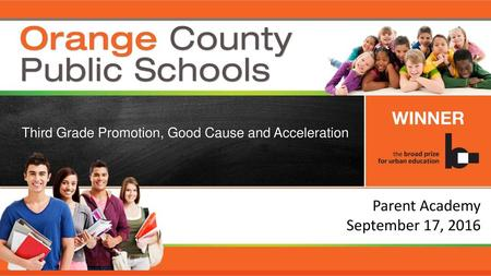 Parent Academy September 17, 2016