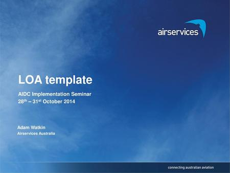 AIDC Implementation Seminar 28th – 31st October 2014