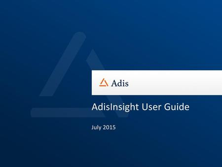 AdisInsight User Guide July 2015