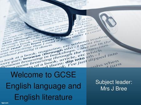 Welcome to GCSE English language and English literature
