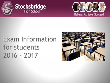 Exam Information for students