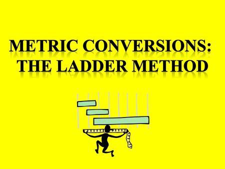 Metric Conversions: The Ladder Method.