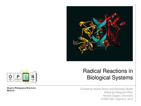 Radical Reactions in Biological Systems