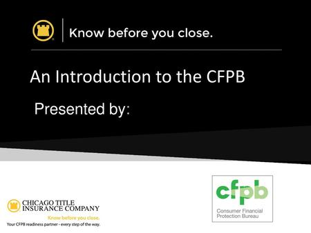 An Introduction to the CFPB
