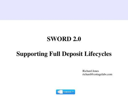 Supporting Full Deposit Lifecycles