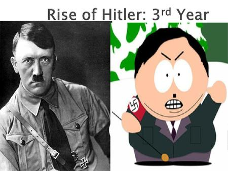 Rise of Hitler: 3rd Year.