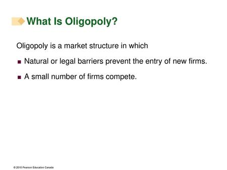 What Is Oligopoly? Oligopoly is a market structure in which
