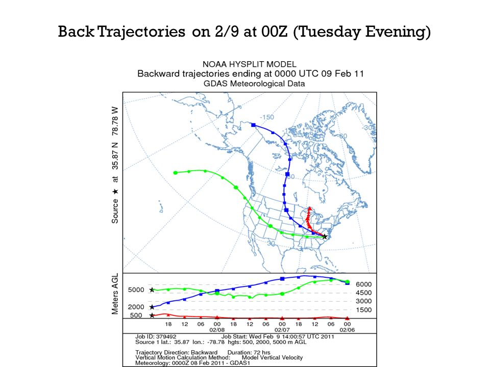 U.S. Surface Analysis on 2/9 at 12Z (Wednesday Morning)