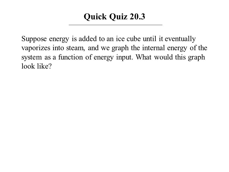 Answer: The figure below shows a graphical representation of the internal energy of the ice in parts A to E as a function of energy added.