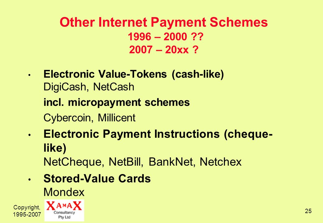 Copyright, 1995-2007 26 Wireless Networks Wide Area Networks – Satellite Geosynchronous (2 second latency) Low-Orbit (Iridium) Wide Area Networks – Cellular (to 20km per cell) 1 – Analogue Cellular 2 – Digital Cellular, e.g.