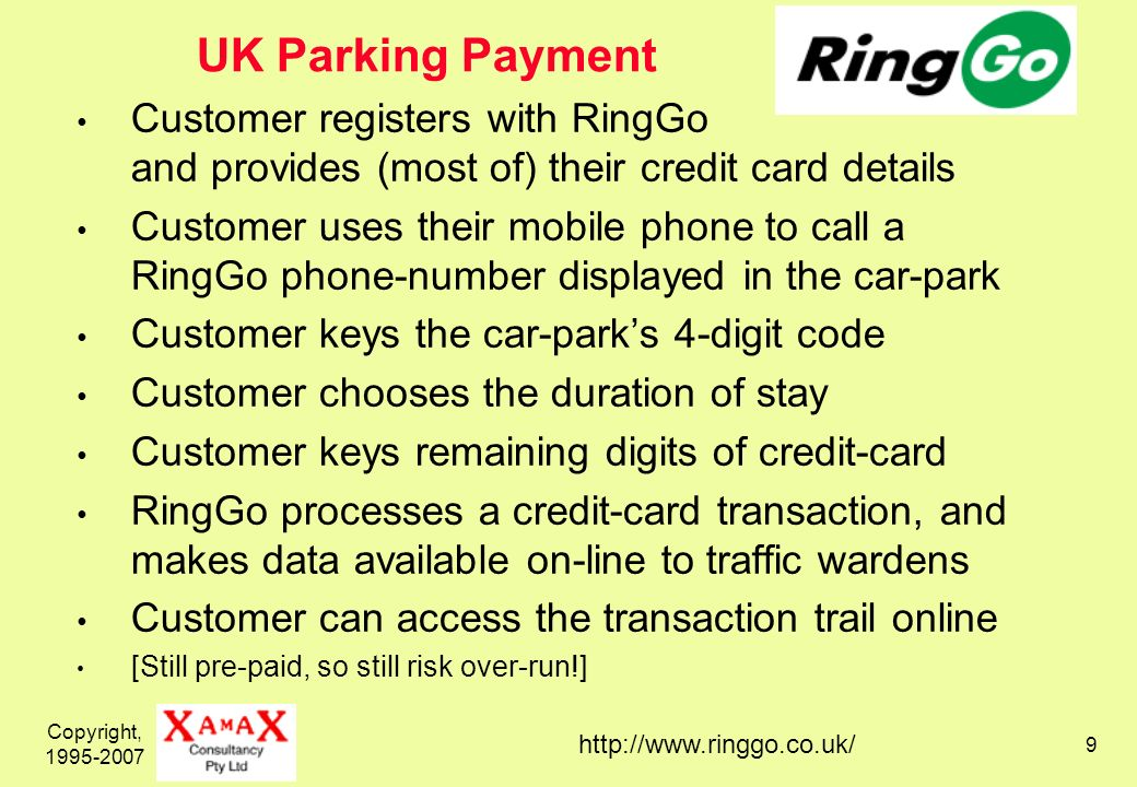 Copyright, 1995-2007 10 2.Payment Mechanisms Pre-Networks Cash Cheque Direct Credit Direct Debit Credit Cards at Point-of-Sale Credit Cards MOTO Charging to Telco Accounts