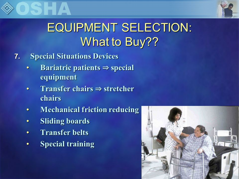 EQUIPMENT SELECTION: What to Buy?.8.