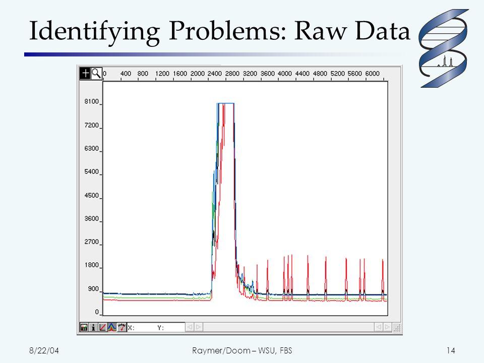 8/22/04Raymer/Doom – WSU, FBS15 Poor Raw Data